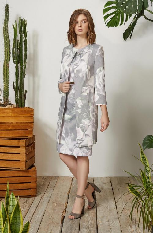 Жакет 3455 (48-56)  Платье 3491 (48-56)